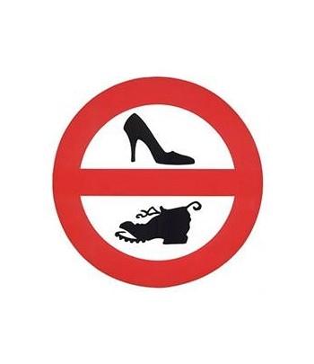 Naklejka - zakaz wchodzenia w butach/ zakaz palenia