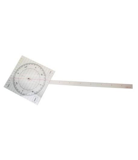Liniał kątomierz  z linijką 144x440 mm