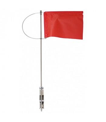 Wimpelek 195 x 155 czerwony z mocowaniem