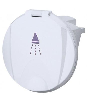 Pojemnik burtowy na prysznic biały