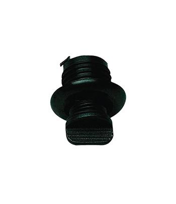 Korek spustowy okrągły fi 40mm - czarny