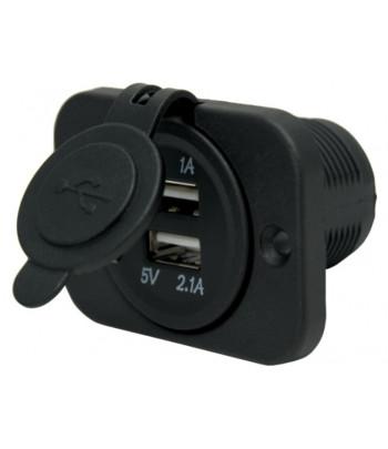 Gniazdo USB podwójne 60x43 mm