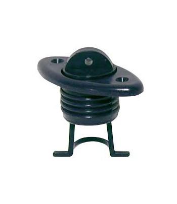Korek spustowy owalny 60x30mm - czarny