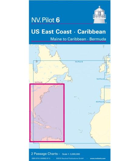 Mapa USA wschodnie wybrzeże