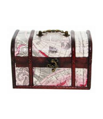 Szkatułka mapa - kuferek z rączką