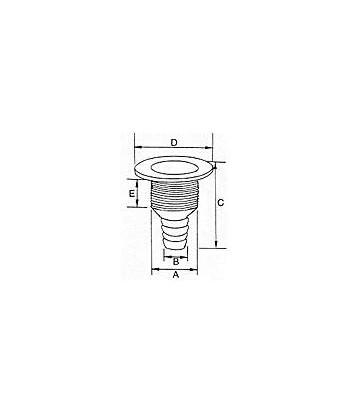 """Odpływ chromowany PCV 1""""/25mm"""