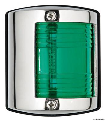 Lampa nierdzewna burtowa- zielona