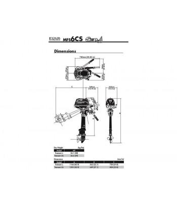 Silnik TOHATSU czterosuw 6 KM SL - MFS6D SL Sail Pro