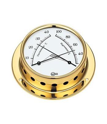 Termometr/Higrometr TEMPO S - mosiądz 70mm  BARIGO
