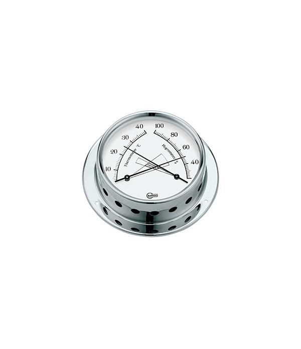Termometr/Higrometr TEMPO - 85mm chrom   BARIGO