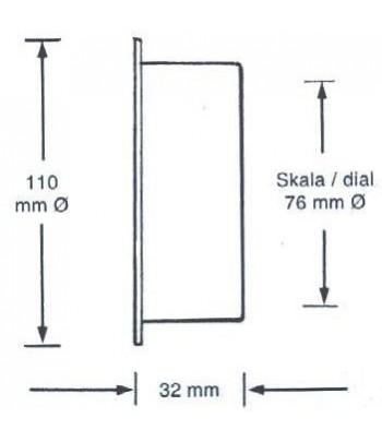 Barometr HANSEATIC 110 mm - mosiądz