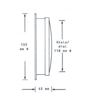 Barometr HANSEATIC 155 mm - mosiądz