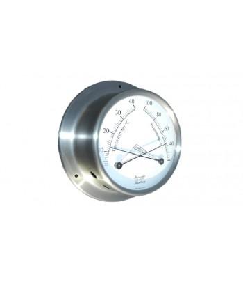 Termometr/Higrometr HANSEATIC 110mm stal